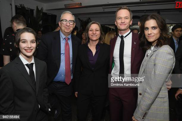 Dylan Kingwell Barry Sonnenfeld Neil Patrick Harris and Allison Williams attends the Netflix Premiere of 'A Series of Unfortunate Events' Season 2 on...
