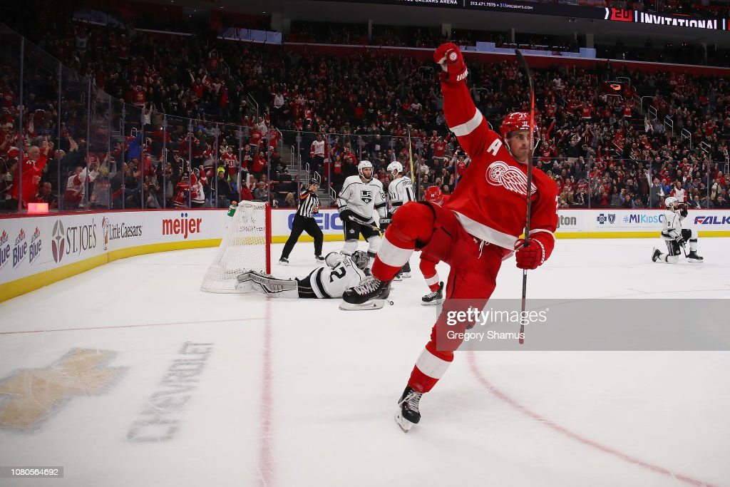 Los Angeles Kings v Detroit Red Wings : Foto jornalística