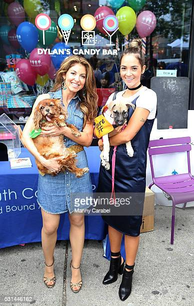 Dylan Lauren and Aisha Jade attend a Dog Adoption Event hosted by the Monmouth County SPCA and Animal Lighthouse Rescue at Dylan's Candy Bar on May...