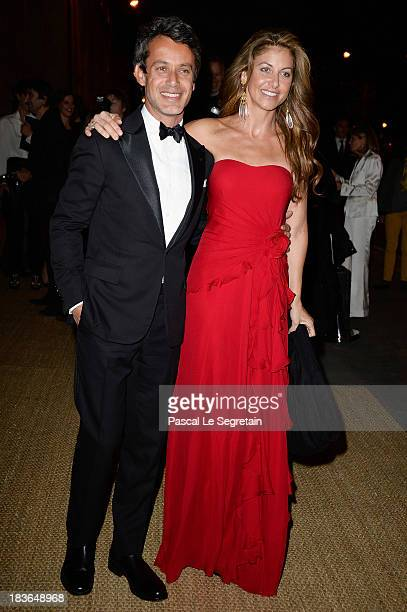 Dylan Lauren and Andrew Lauren arrive at a Ralph Lauren Collection Show and private dinner at Les Beaux-Arts de Paris on October 8, 2013 in Paris,...