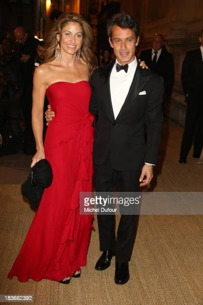 Dylan Lauren and Andrew Lauren arrive at a Ralph Lauren Collection Show and private dinner at Les Beaux-Arts de Paris on October 9, 2013 in Paris,...