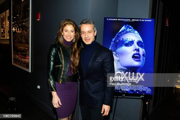 "Dylan Lauren and Andrew Lauren attend Neon And The Cinema Society Host A Special Screening Of Vox Lux"" at Quad Cinema on November 15, 2018 in New..."