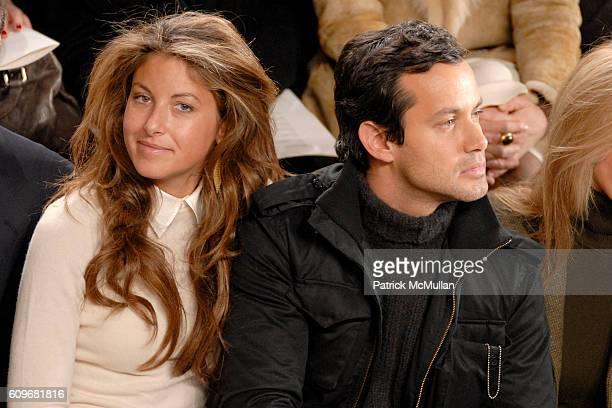 Dylan Lauren and Andrew Lauren attend Ralph Lauren Fall 2007 Front Row at Skylight Studios on February 9 2007 in New York City