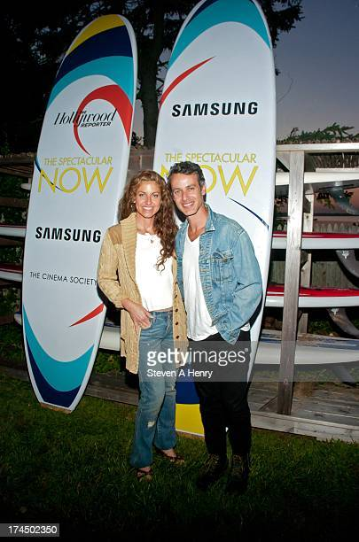 Dylan Lauren and Andrew Lauren attend The Hollywood Reporter Samsung with The Cinema Society screening of A24's The Spectacular Now at The Crow's...