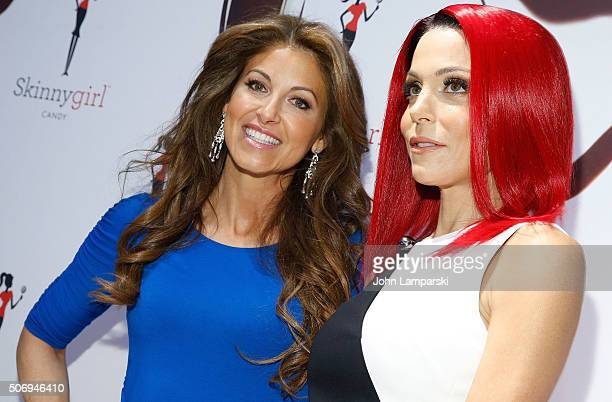 Dylan Lauren and Bethenny Frankel attend Skinny Girl Candy Launch at Dylan's Candy Bar on January 26 2016 in New York City