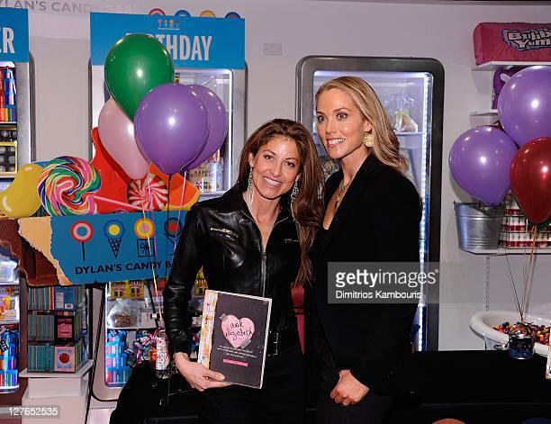 Dylan Lauren and Elizabeth Berkley sign copies of Ask Elizabeth at Dylan's Candy Bar on April 1 2011 in New York City
