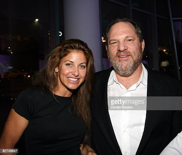 Dylan Lauren and Harvey Weinstein attend the 23 and Me Spit party at the IAC Building on September 9 2008 in New York City