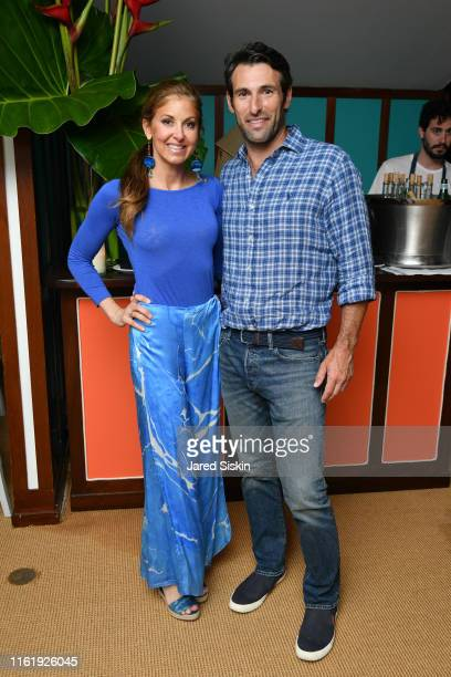 Dylan Lauren and Paul Arrouet attend Sony Pictures Classics The Cinema Society Host A Hamptons After Party For David Crosby Remember My Name on July...