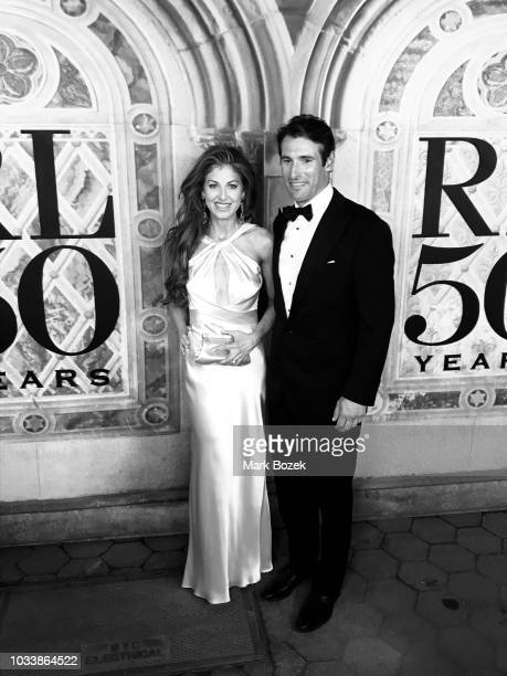 Dylan Lauren and Paul Arrouet attend the Ralph Lauren 50th Anniversary show during New York Fashion Week at Bethesda Terrace on September 7 2018 in...