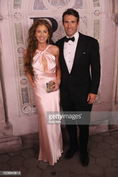 Dylan Lauren and Paul Arrouet attend the Ralph Lauren fashion show during New York Fashion Week at Bethesda Terrace on September 7 2018 in New York...