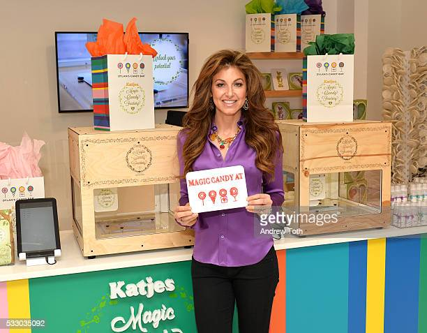 Dylan Lauren attends Dylan's Candy Bar exclusively launches first 3D printed candy in the US with Katjes Magic Candy Factory on May 19 2016 in New...