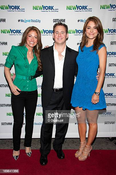 Dylan Lauren, Brett Reizen, and Maria Menounos attend the NewYork.com launch party at Arena on May 29, 2013 in New York City.