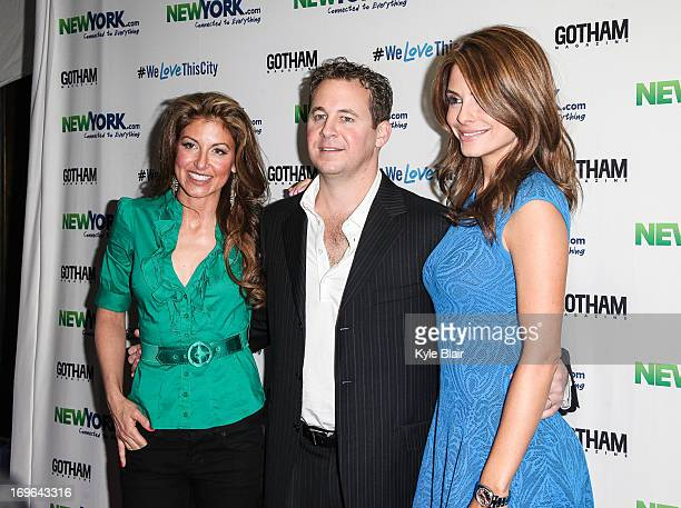 Dylan Lauren Brett Reizen and Maria Menounos attend the NewYorkcom Launch Party at Arena on May 29 2013 in New York City