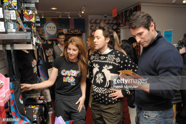 Dylan Lauren David Lauren and Paul Arrouet attend Candy Lover Dylan's Candy Bar hosts VIP opening event for Romero Britto at Dylan's Candy Bar on...