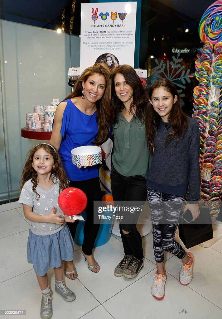 Dylan Lauren, founder and CEO of Dylan's Candy Bar (2nd from L) and guests attend the Dylan's Candy BarN launch event at Dylan's Candy Bar on December 8, 2015 in Los Angeles, California.