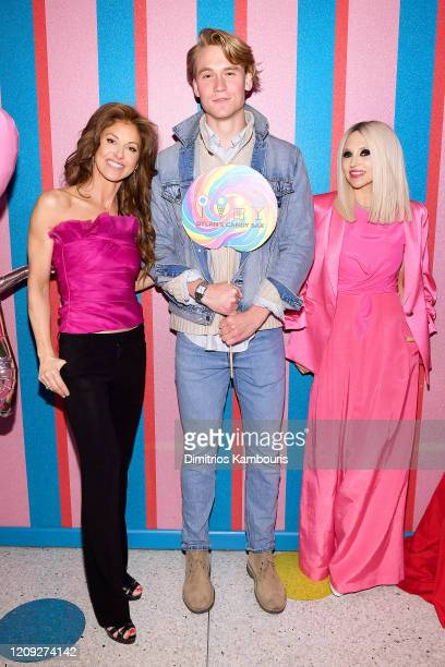 """Dylan Lauren, John Paul Jones, and Stacey Bendet attend the Dylan's Candy Bar """"Spread Sweetness"""" Event on February 27, 2020 in New York City."""