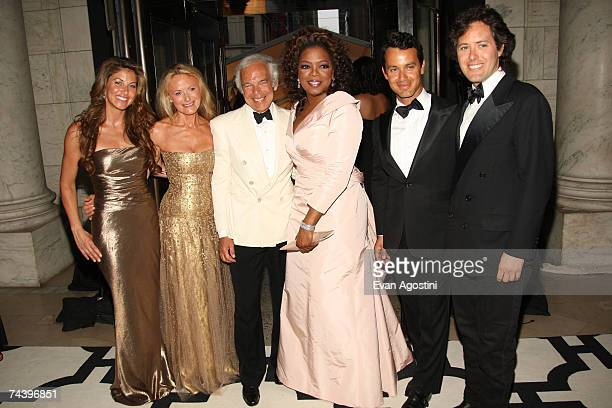 Dylan Lauren Ricky Lauren designer Ralph Lauren Oprah Winfrey Andrew Lauren and David Lauren pose inside during the 25th Anniversary of the Annual...