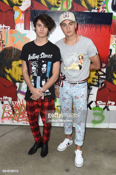 Dylan Lee and Brandon Lee at the TommyLand Tommy Hilfiger Spring 2017 Fashion Show on February 8 2017 in Venice California