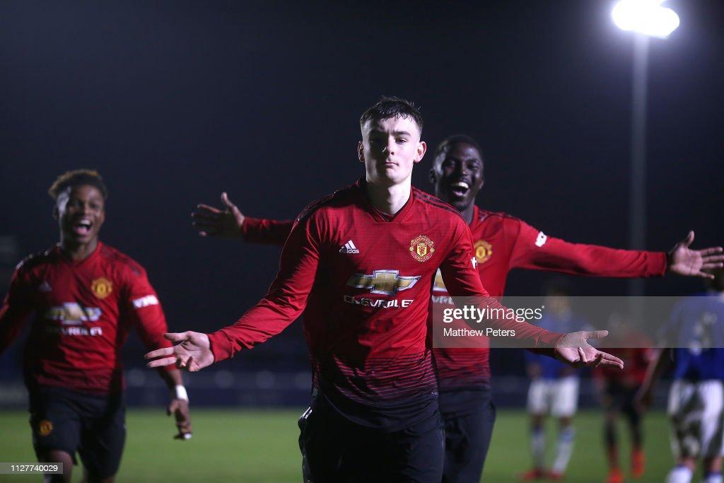 GBR: Everton v Manchester United - U18 Premier League