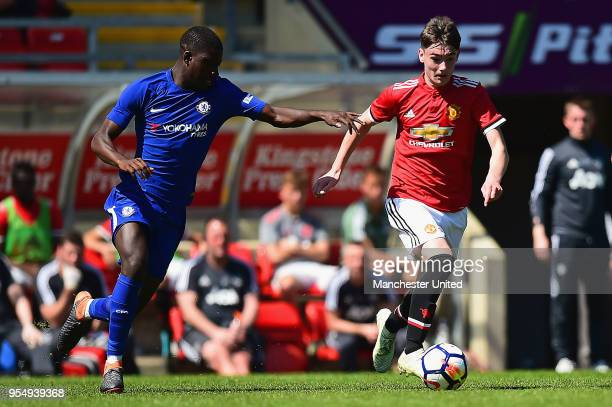 Dylan Levitt of Manchester United U18s in action during the U18 Premier League National Final match between Manchester United U18s and Chelsea U18s...