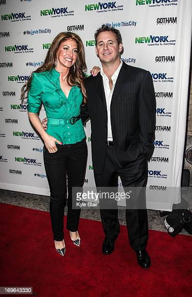 Dylan Luaren and Brett Reizen attend the NewYorkcom Launch Party at Arena on May 29 2013 in New York City