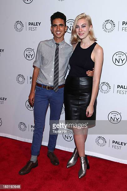 Dylan Marron and Madeline Wise attend the The Outs panel during 2013 PaleyFest Made In New York at The Paley Center for Media on October 5 2013 in...