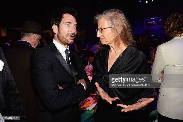 Dylan McDermott and Annie Leibovitz attend amfAR's 20th Annual Cinema Against AIDS during The 66th Annual Cannes Film Festival at Hotel du...