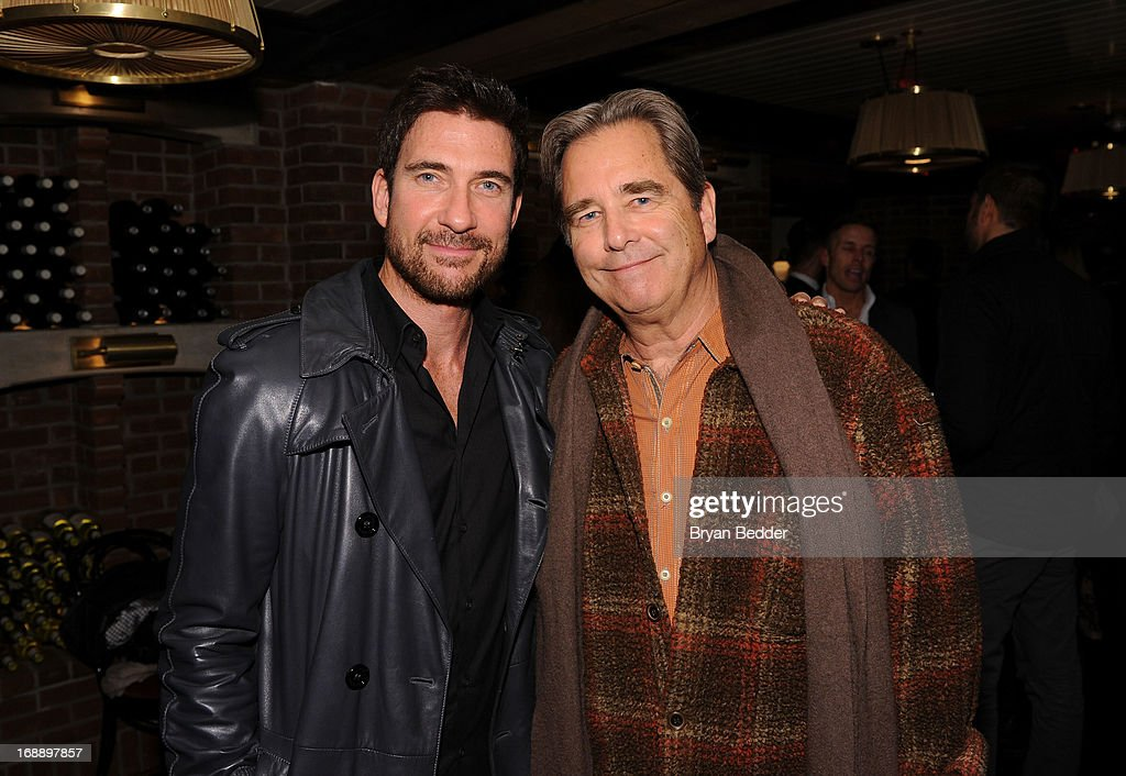 Dylan McDermott (L) and Beau Bridges attend the 2013 CAA Upfronts Party on May 14, 2013 in New York City.