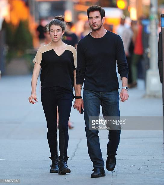 Dylan McDermott and Colette McDermott are seen in the Meat Packing District on July 16 2013 in New York City