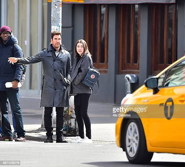 Dylan McDermott and Colette Rose McDermott are seen in the West Village on March 24 2015 in New York City