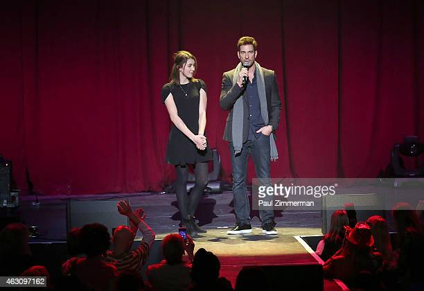 Dylan McDermott and daughter Colette McDermott onstage at the 3rd Annual One Billion Rising REVOLUTION at Hammerstein Ballroom on February 7 2015 in...