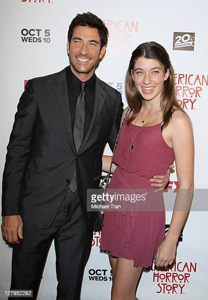 Dylan McDermott and his daughter Colette McDermott arrive at the Los Angeles premiere of FX's American Horror Story held at ArcLight Cinemas Cinerama...