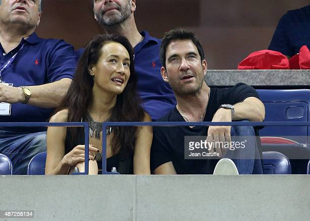 Dylan McDermott and his girlfriend Maggie Q attend day eight of the 2015 US Open at USTA Billie Jean King National Tennis Center on September 7 2015...