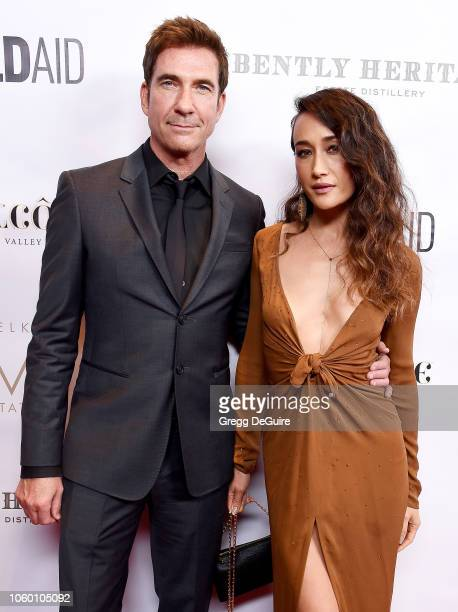Dylan McDermott and Maggie Q arrive at An Evening in China with WildAid at the Beverly Wilshire Four Seasons Hotel on November 10 2018 in Beverly...