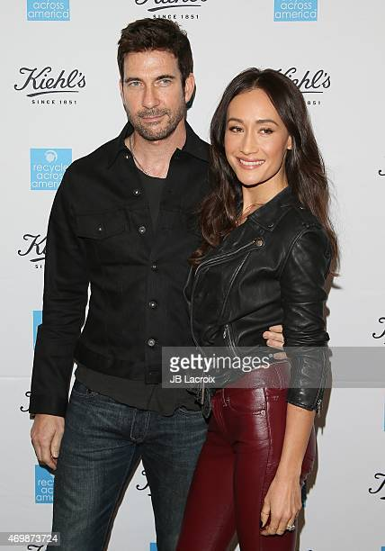 Dylan McDermott and Maggie Q attend the Kiehl's 2015 Earth Day Project With Elizabeth Olsen And Maggie Q at the KiehlÕs Since 1851 Santa Monica Store...