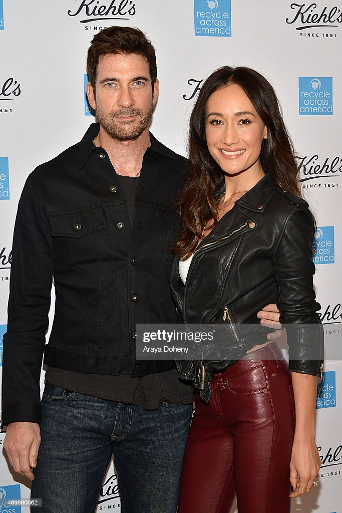 Dylan McDermott and Maggie Q attend the Kiehl's 2015 Earth Day Project with Benefitting Recycle Across America at Kiehls Since 1851 Santa Monica Store on April 15, 2015 in Santa Monica, California.