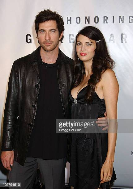 """Dylan McDermott and Shiva Rose during Giorgio Armani Receives First """"Rodeo Drive Walk Of Style"""" Award at Rodeo Drive in Beverly Hills, California,..."""