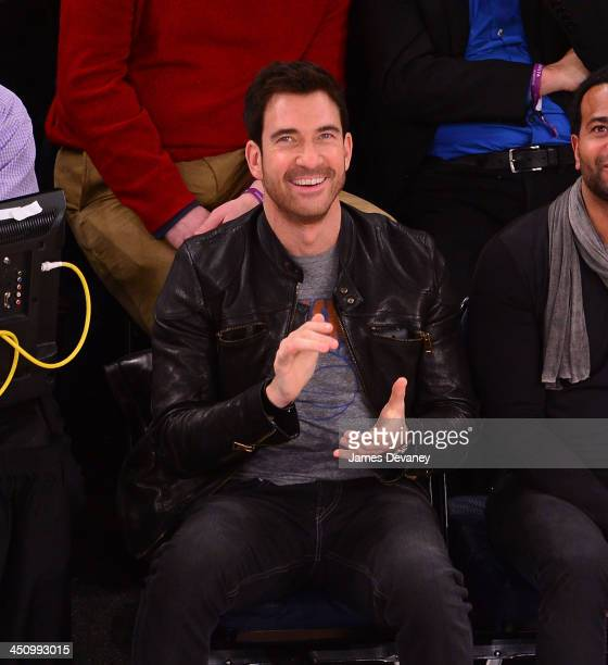 Dylan McDermott attends the Indiana Pacers vs New York Knicks game at Madison Square Garden on November 20 2013 in New York City