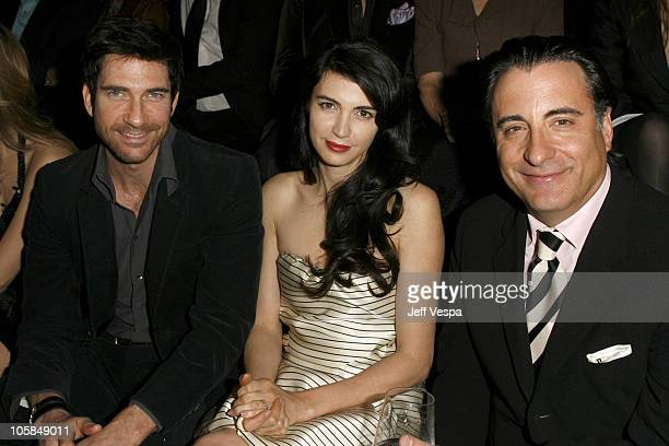 Dylan McDermott, Chiva Rose and Andy Garcia during Giorgio Armani Prive in L.A. - Front Row at Green Acres in Los Angeles, California, United States.