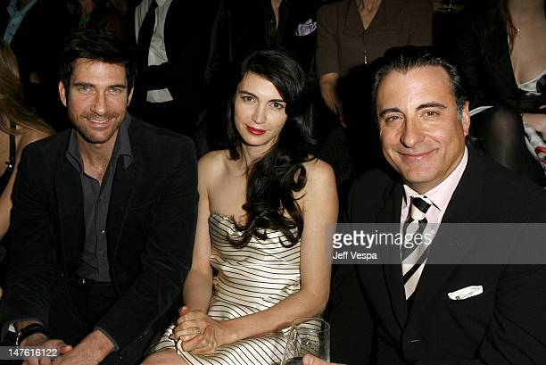 Dylan McDermott Chiva Rose and Andy Garcia during Giorgio Armani Prive in LA Front Row at Green Acres in Los Angeles California United States