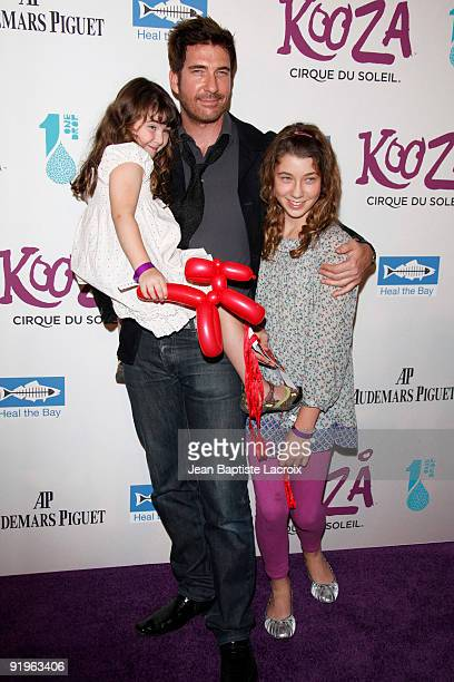 Dylan McDermott daughters Colette and Charlotte arrive for the Cirque Du Soleil Opening Night Gala For Kooza at Santa Monica Pier on October 16 2009...