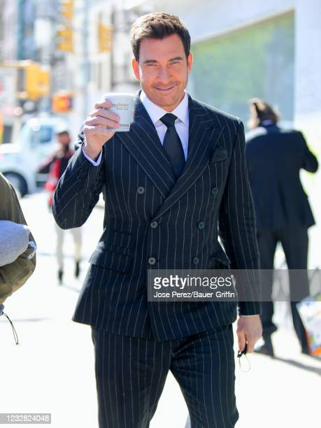 """Dylan McDermott is seen at the film set of the """"Law and Order: Organized Crime"""" on May 11, 2021 in New York City."""
