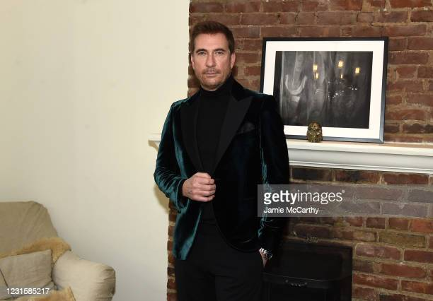 Dylan McDermott prepares for The 2021 Critics Choice Awards on March 07, 2021 in New York City.