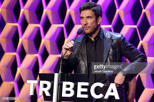 Dylan McDermott speaks onstage at TFF Awards Night during the 2015 Tribeca Film Festival at Spring Studio on April 23 2015 in New York City