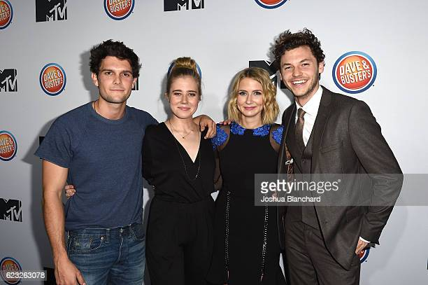 Dylan McTee Taylor Dearden Eliza Bennett and Nick Fink arrive at MTV's 'Teen Wolf' and 'Sweet/Vicious' Premiere Event on November 14 2016 in Los...