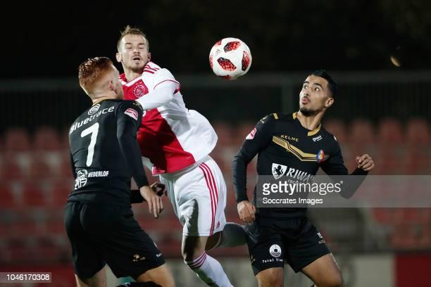 Dylan Mertens of Telstar Vaclav Cerny of Ajax U23 Anass Najah of Telstar during the Dutch Keuken Kampioen Divisie match between Ajax U23 v Telstar at...