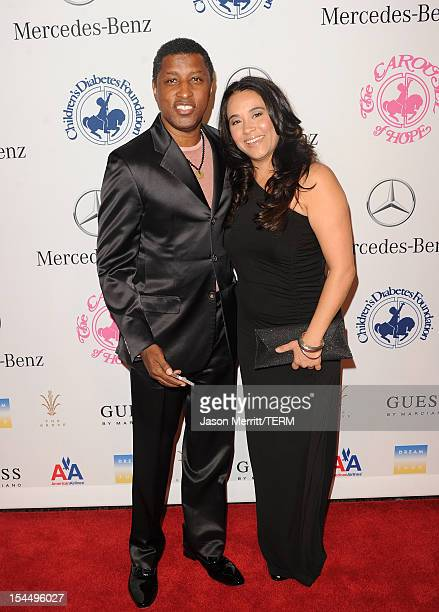 Dylan Michael and Kenneth 'Babyface' Edmonds arrive at the 26th Anniversary Carousel Of Hope Ball presented by MercedesBenz at The Beverly Hilton...