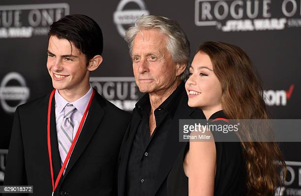 Dylan Michael Douglas actor Michael Douglas and Carys Zeta Douglas attend the premiere of Walt Disney Pictures and Lucasfilm's Rogue One A Star Wars...