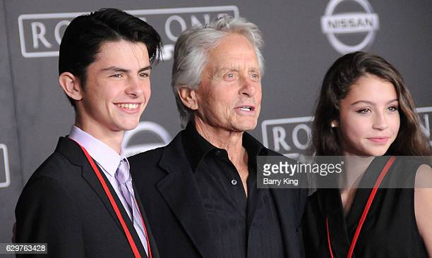 Dylan Michael Douglas actor Michael Douglas and Carys Zeta Douglas attend the premiere of Walt Disney Pictures and Lucasfilms' 'Rogue One A Star Wars...