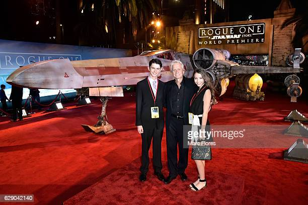 Dylan Michael Douglas actor Michael Douglas and Carys ZetaDouglas attend The World Premiere of Lucasfilm's highly anticipated firstever standalone...